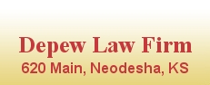 Depew Law Firm - 620 Main St - Neodesha KS 66757  (620) 325-2626